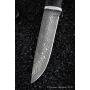 Outdoorový nůž VORSMA DIVOČÁK, Damašek, černý hrab, karelianská bříza, 140 mm