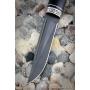 Outdoorový nůž VORSMA ULAN, Bulat, černý habr, melchior, 120 mm