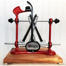 Ostřič nožů Warthog V-Sharp Classic II ELITE Red s dřevěným...