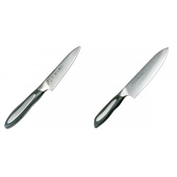 Japonský okrajovací nůž Tojiro Flash (FF-PA100), 100 mm + Japonský šéfkuchařský nůž Tojiro Flash (FF-CH180), 180 mm