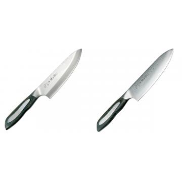 Japonský tradiční nůž na ryby a maso Deba Tojiro Flash 165mm + Japonský šéfkuchařský nůž Tojiro Flash (FF-CH180), 180 mm