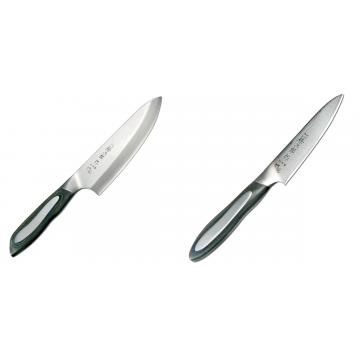 Japonský tradiční nůž na ryby a maso Deba Tojiro Flash 165mm + Japonský okrajovací nůž Tojiro Flash (FF-PA100), 100 mm