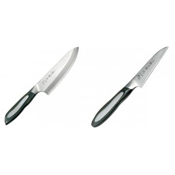 Japonský tradiční nůž na ryby a maso Deba Tojiro Flash 165mm + Japonský okrajovací nůž Tojiro Flash 90mm