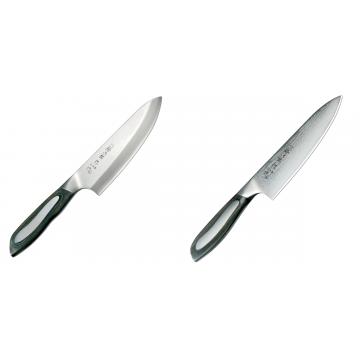 Japonský tradiční nůž na ryby a maso Deba Tojiro Flash 165mm + Japonský šéfkuchařský nůž Tojiro Flash 160mm