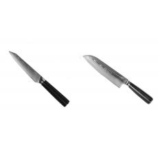 Kuchyňský univerzální nůž Seburo SARADA Damascus 120mm + Santoku...