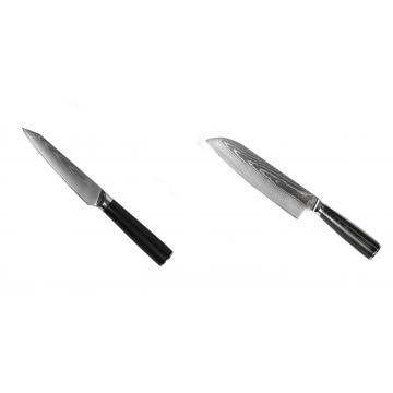 Kuchyňský univerzální nůž Seburo SARADA Damascus 120mm + Santoku nůž Seburo SARADA Damascus 190mm
