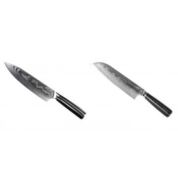 Šéfkuchařský nůž Seburo SARADA II Damascus 190mm + Santoku nůž Seburo SARADA Damascus 190mm