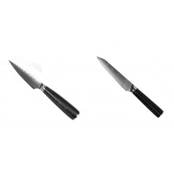 Nůž na ovoce a zeleninu Seburo SARADA Damascus 90mm + Kuchyňský univerzální nůž Seburo SARADA Damascus 120mm