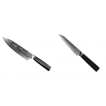 Šéfkuchařský nůž Seburo SARADA II Damascus 190mm + Kuchyňský univerzální nůž Seburo SARADA Damascus 120mm