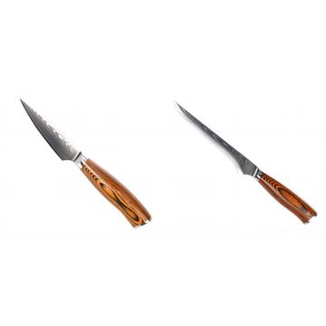 Nůž na ovoce a zeleninu Seburo SUBAJA Damascus 90mm + Vykosťovací nůž Seburo SUBAJA Damascus 150mm