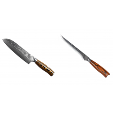 Santoku nůž Seburo SUBAJA II Damascus 190mm + Vykosťovací nůž...
