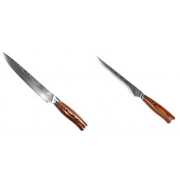Filetovací nůž Seburo SUBAJA II Damascus 200mm + Vykosťovací nůž Seburo SUBAJA Damascus 150mm