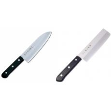 Japonský Santoku nůž Tojiro Western 170mm + Japonský Nakiri nůž...