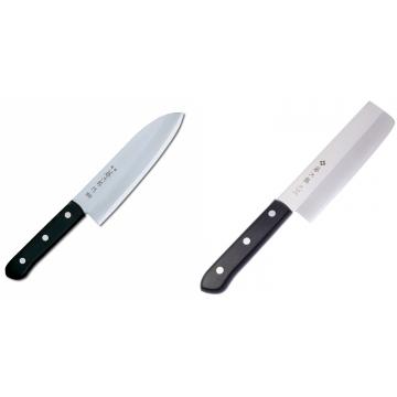 Japonský Santoku nůž Tojiro Western 170mm + Japonský Nakiri nůž Tojiro Western 165mm