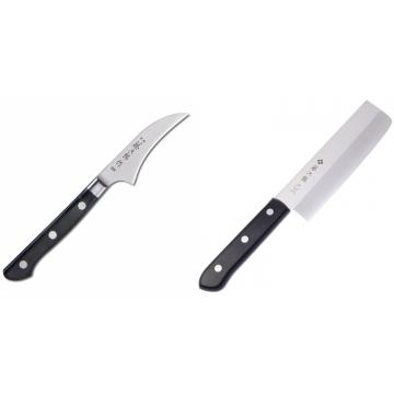 Japonský loupací nůž Tojiro Western 70mm + Japonský Nakiri nůž Tojiro Western 165mm