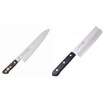 Japonský šéfkuchařský nůž Tojiro Western F-809, 240mm + Japonský Nakiri nůž Tojiro Western 165mm
