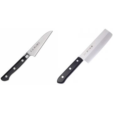 Japonský okrajovací nůž Tojiro Western 90mm + Japonský Nakiri nůž Tojiro Western 165mm