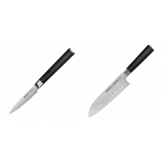 Nůž na ovoce a zeleninu Samura Mo-V (SM-0010), 90mm + Santoku...
