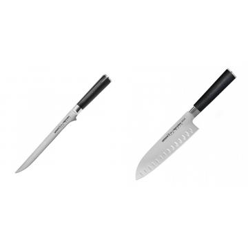 Filetovací nůž Samura Mo-V (SM-0048), 218 mm + Santoku nůž Samura Mo-V (SM-0094), 180mm