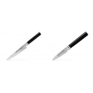 Univerzální nůž Samura Mo-V (SM-0023), 150 mm + Nůž na ovoce a zeleninu Samura Mo-V (SM-0010), 90mm