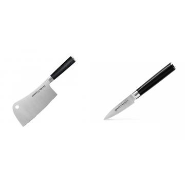 Kuchařský nůž-sekáček Samura Mo-V (SM-0040), 180mm + Nůž na ovoce a zeleninu Samura Mo-V (SM-0010), 90mm