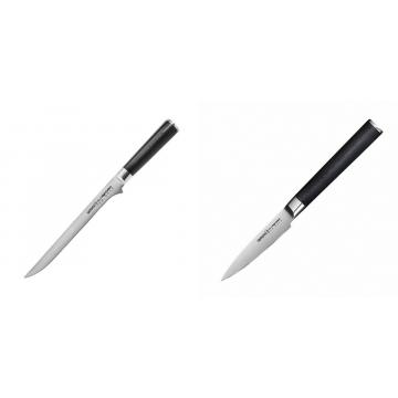 Filetovací nůž Samura Mo-V (SM-0048), 218 mm + Nůž na ovoce a zeleninu Samura Mo-V (SM-0010), 90mm