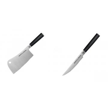 Kuchařský nůž-sekáček Samura Mo-V (SM-0040), 180mm + Steakový nůž Samura Mo-V (SM-0031), 120mm