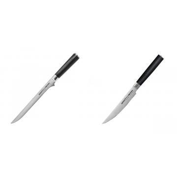 Filetovací nůž Samura Mo-V (SM-0048), 218 mm + Steakový nůž Samura Mo-V (SM-0031), 120mm