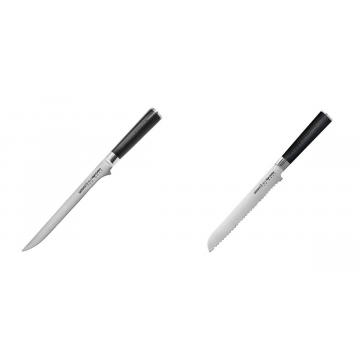 Filetovací nůž Samura Mo-V (SM-0048), 218 mm + Nůž na chléb a pečivo Samura MO-V (SM-0055), 230 mm