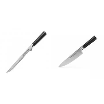 Filetovací nůž Samura Mo-V (SM-0048), 218 mm + Šéfkuchařský nůž Samura MO-V (SM-0085), 200mm