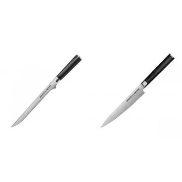 Filetovací nůž Samura Mo-V (SM-0048), 218 mm + Univerzální nůž Samura Mo-V (SM-0023), 150 mm
