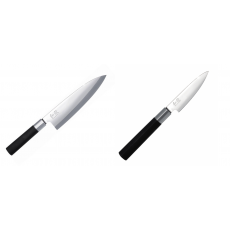 Wasabi Black Deba KAI 210mm + Univerzální nůž KAI Wasabi Black,...