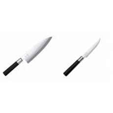 Wasabi Black Deba KAI 210mm + Steakový nůž KAI Wasabi Black,...