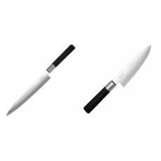 Plátkovací nůž KAI Wasabi Black Yanagiba, 210mm + Malý...