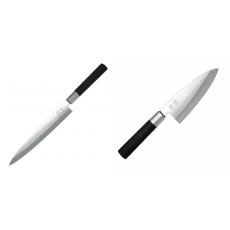Plátkovací nůž KAI Wasabi Black Yanagiba, 210mm + Vykosťovací...