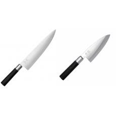 Wasabi Black Nůž šéfkuchaře velký KAI 230mm + Vykosťovací nůž...