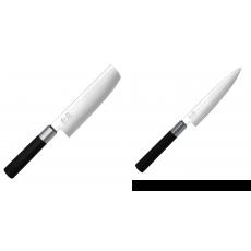 Wasabi Black Nakiri KAI 165mm + Univerzální nůž KAI Wasabi Black...