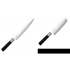 Plátkovací nůž KAI Wasabi Black, 230 mm + Wasabi Black Nakiri...