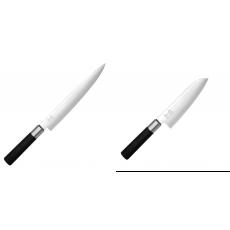 Plátkovací nůž KAI Wasabi Black, 230 mm + Santoku nůž KAI Wasabi...
