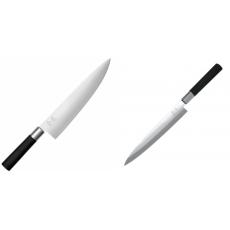 Wasabi Black Nůž šéfkuchaře velký KAI 230mm + Plátkovací nůž KAI...