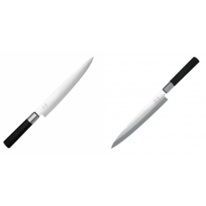 Plátkovací nůž KAI Wasabi Black, 230 mm + Plátkovací nůž KAI...
