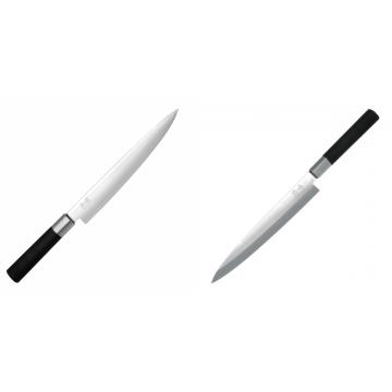 Plátkovací nůž KAI Wasabi Black, 230 mm + Plátkovací nůž KAI Wasabi Black Yanagiba, 210mm