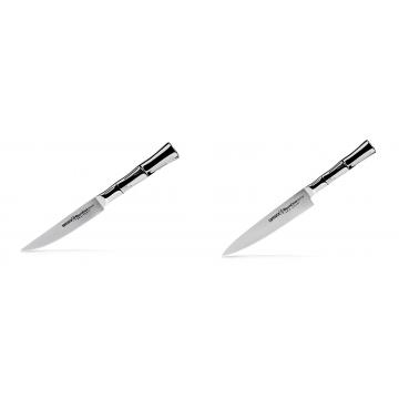 Steakový nůž Samura Bamboo (SBA-0031), 110 mm + Univerzální nůž Samura Bamboo (SBA-0023), 150 mm