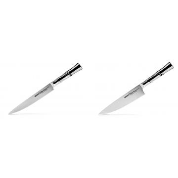 Filetovací nůž Samura Bamboo (SBA-0045), 200 mm + Šéfkuchařský nůž Samura Bamboo (SBA-0085), 200 mm