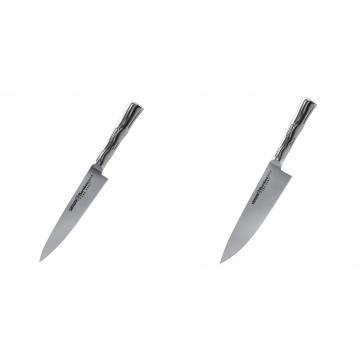 Univerzální nůž Samura Bamboo (SBA-0021), 125 mm + Šéfkuchařský nůž Samura Bamboo (SBA-0085), 200 mm