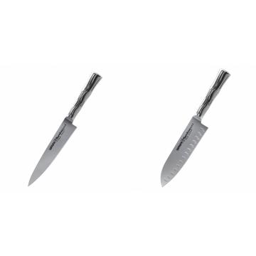 Univerzální nůž Samura Bamboo (SBA-0021), 125 mm + Malý Santoku nůž Samura Bamboo (SBA-0093), 137 mm