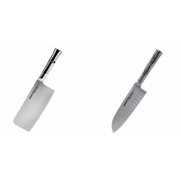 Kuchyňský nůž-sekáček Samura Bamboo (SBA-0040), 180 mm + Santoku nůž Samura Bamboo (SBA-0094), 160 mm