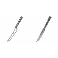 Nůž na sýr Samura Bamboo (SBA-0022), 135 mm + Steakový nůž...