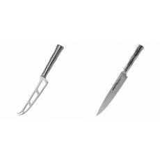 Nůž na sýr Samura Bamboo (SBA-0022), 135 mm + Filetovací nůž...