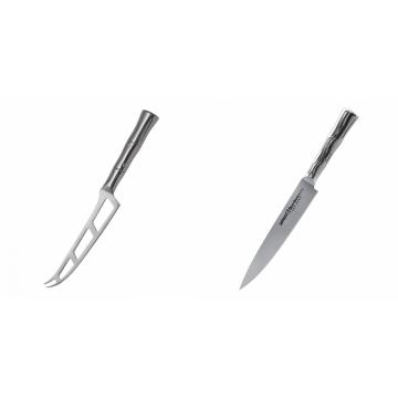 Nůž na sýr Samura Bamboo (SBA-0022), 135 mm + Filetovací nůž Samura Bamboo (SBA-0045), 200 mm